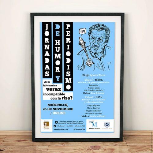 Cartel de las Jornadas de Humor y Periodismo organizadas por la Fundación Manuel Alcántara