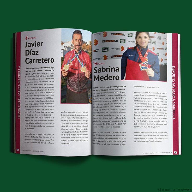 """Maquetación de la Revista """"Guía del Talento Deportivo Marca Marbella"""