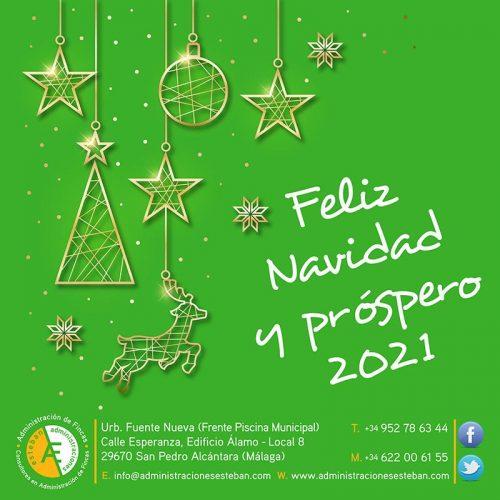 Diseño de Felicitación de Navidad para las Redes Sociales de Administraciones Esteban 2020