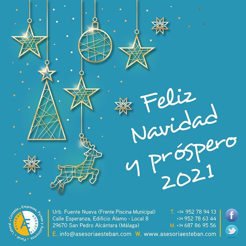 Diseño de Felicitación de Navidad para las Redes Sociales de Asesoría Esteban 2020