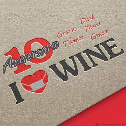 Logotipo de 10º Aniversario de ILOVEWINE