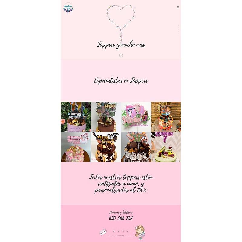 Página web Caprichos de Lucía