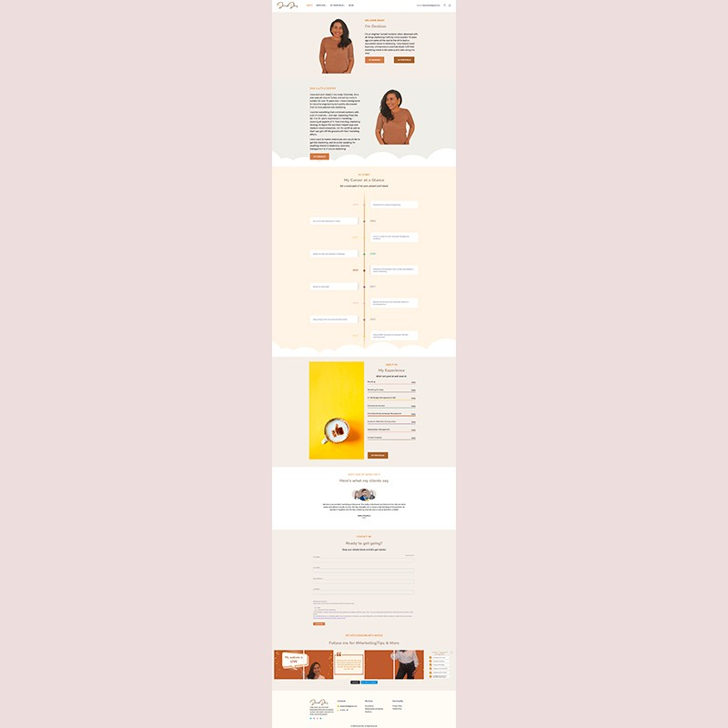 Página web de Denisse Díaz (Marketing)
