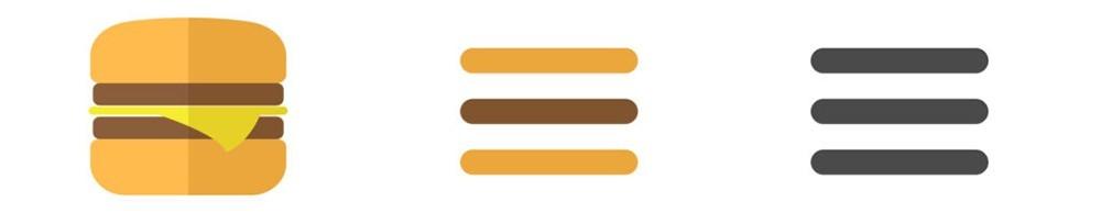 Iconos del menú hamburguesa