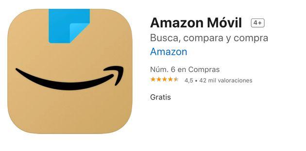 Un ligero cambio al logo de la app de Amazon