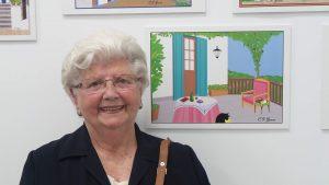 Concha, una artista del Paint
