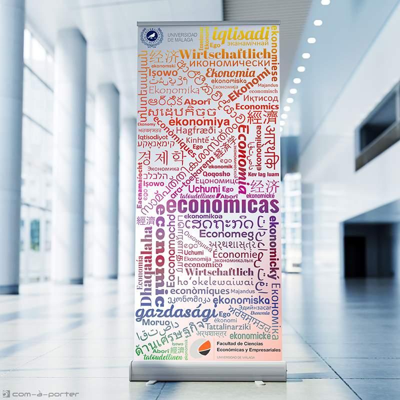Cartelería Roll Up para la Facultad de Ciencias Económicas y Empresariales de la Universidad de Málaga