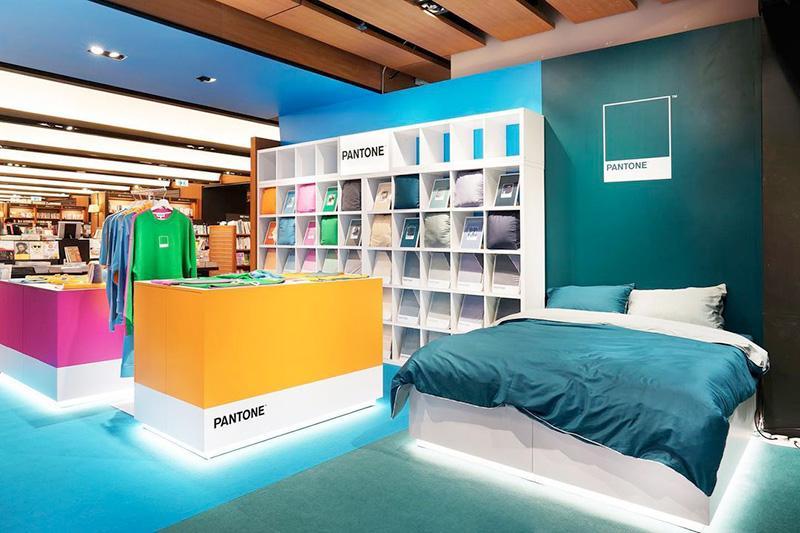 La tienda física de Pantone: habitaciones