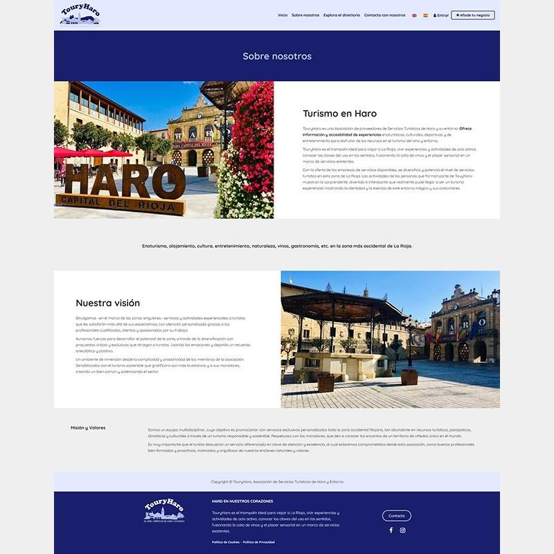 Página web TouryHaro: Turimo en Haro