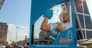 Don Limpio y su campaña de exterior