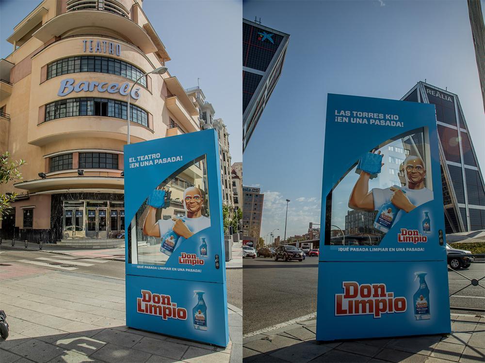 Don Limpio se luce en su campaña exterior