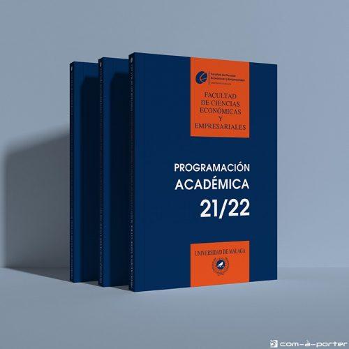 Maquetación del Libro Programación Académica Curso 2021/2022 de la Facultad de Ciencias Económicas y Empresariales de la Universidad de Málaga