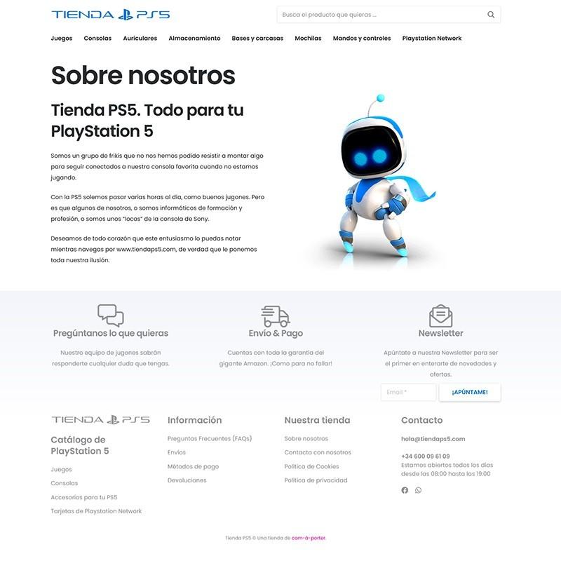 Tienda online y página web de Tienda PS5